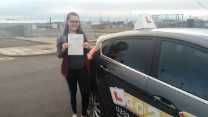 Katie Furber passes driving test