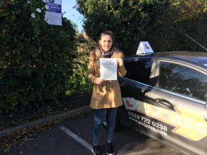 Censina Robinson passed her test